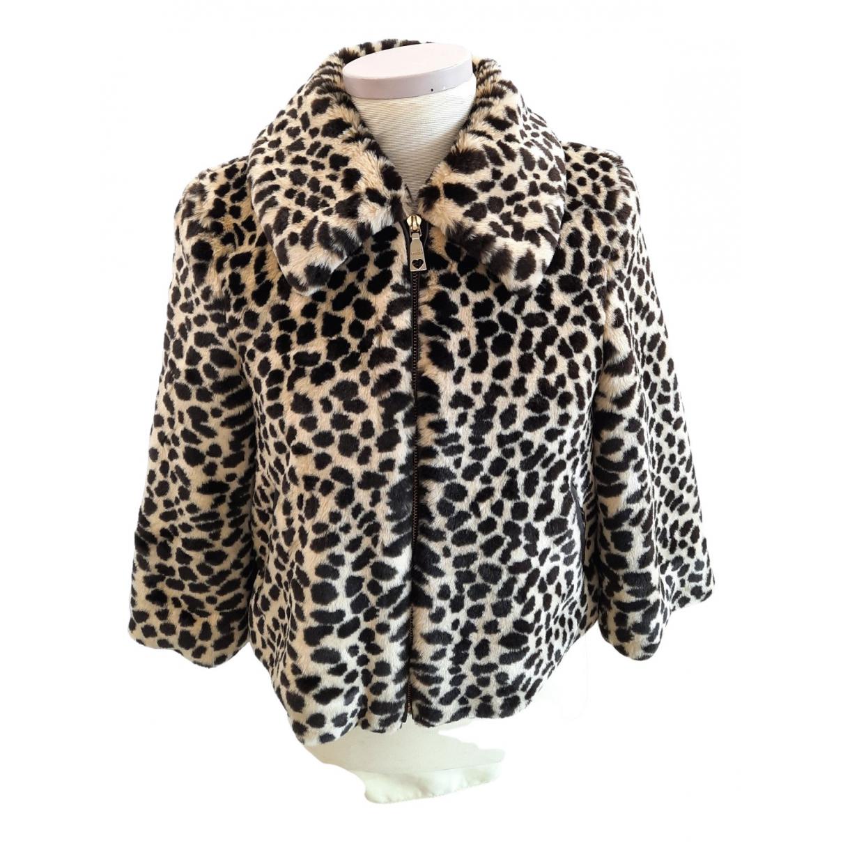 Moschino N Brown Mongolian Lamb jacket for Women 40 IT