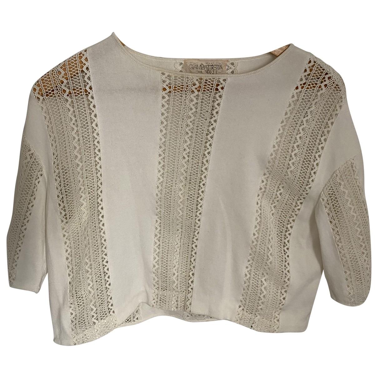 Giambattista Valli \N Ecru Cotton  top for Women 36 FR