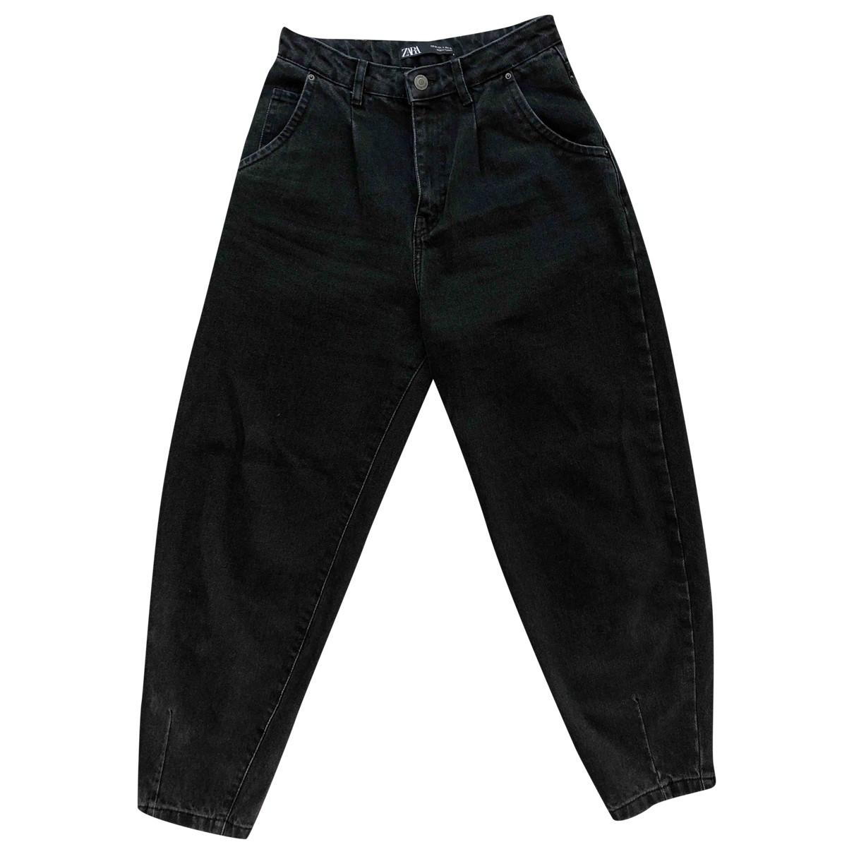 Zara \N Black Denim - Jeans Jeans for Women 34 FR