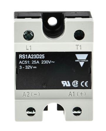 Carlo Gavazzi 25 A SPNO Solid State Relay, Zero, Panel Mount, 265 V ac Maximum Load