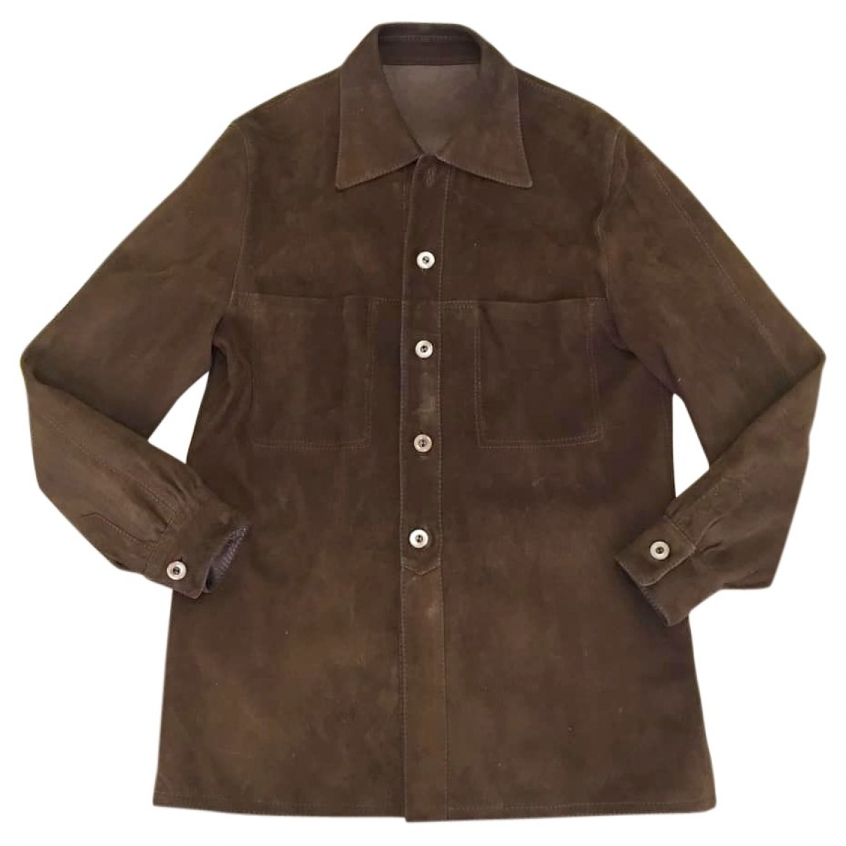 Non Signé / Unsigned \N Brown Suede jacket for Women L International