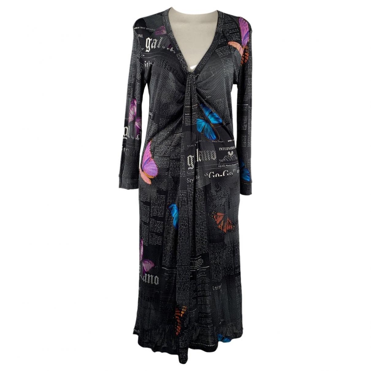 Galliano \N Kleid in  Schwarz Polyester