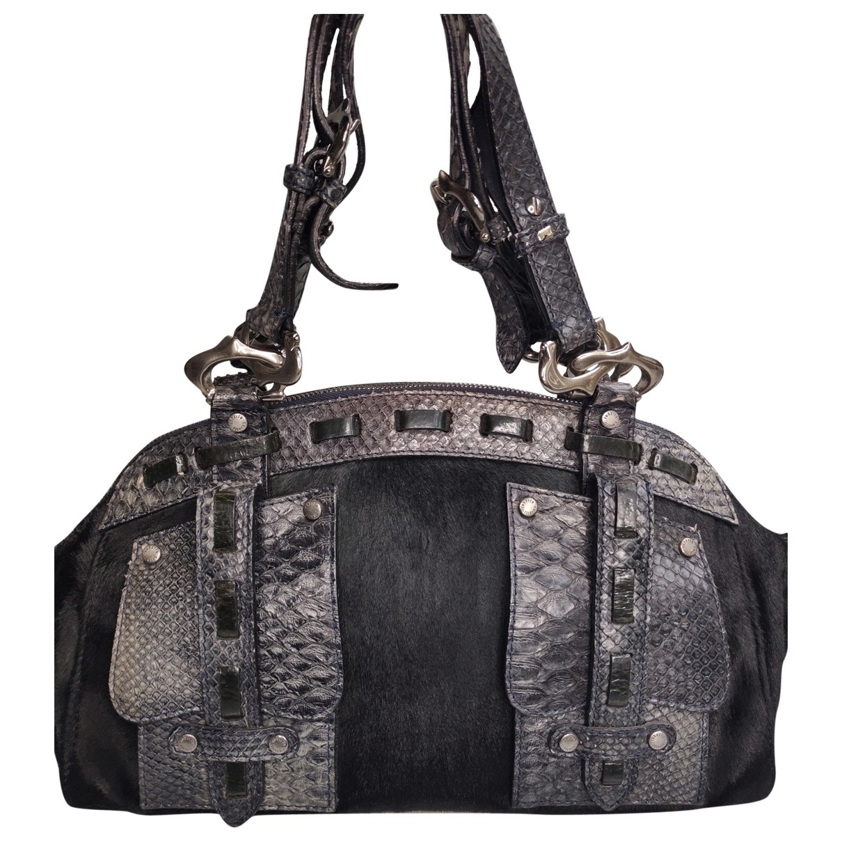 Roberto Cavalli \N Black Exotic leathers handbag for Women \N