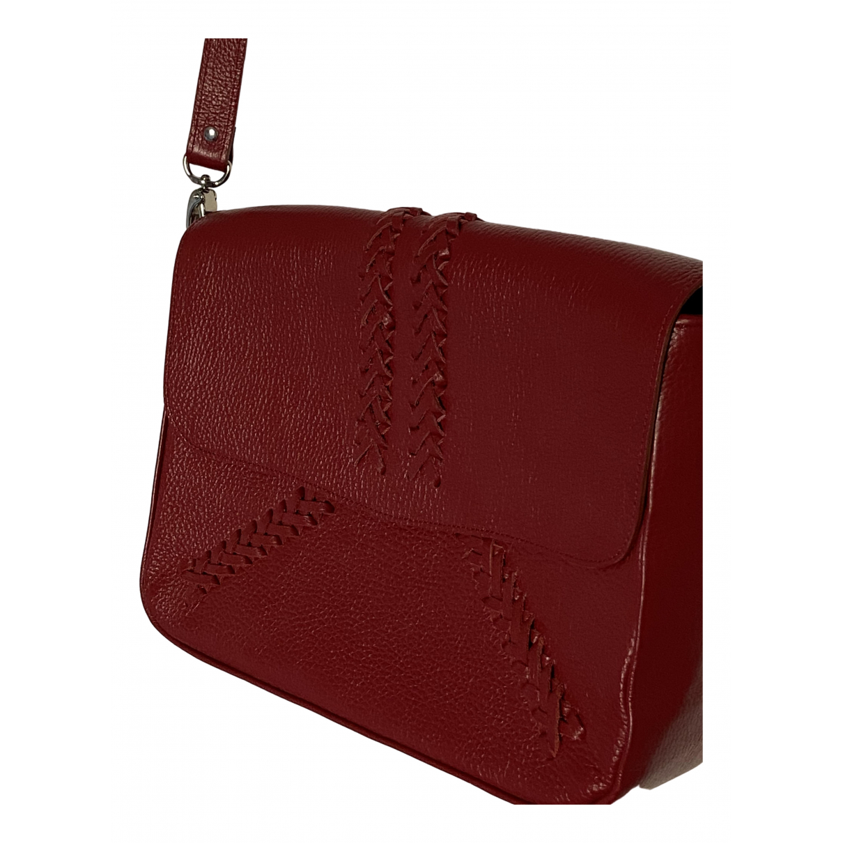 Ba&sh Fall Winter 2019 Handtasche in  Rot Leder