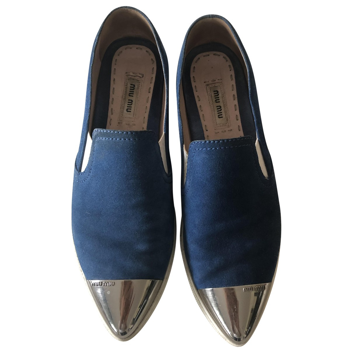 Miu Miu \N Blue Suede Trainers for Women 37.5 IT