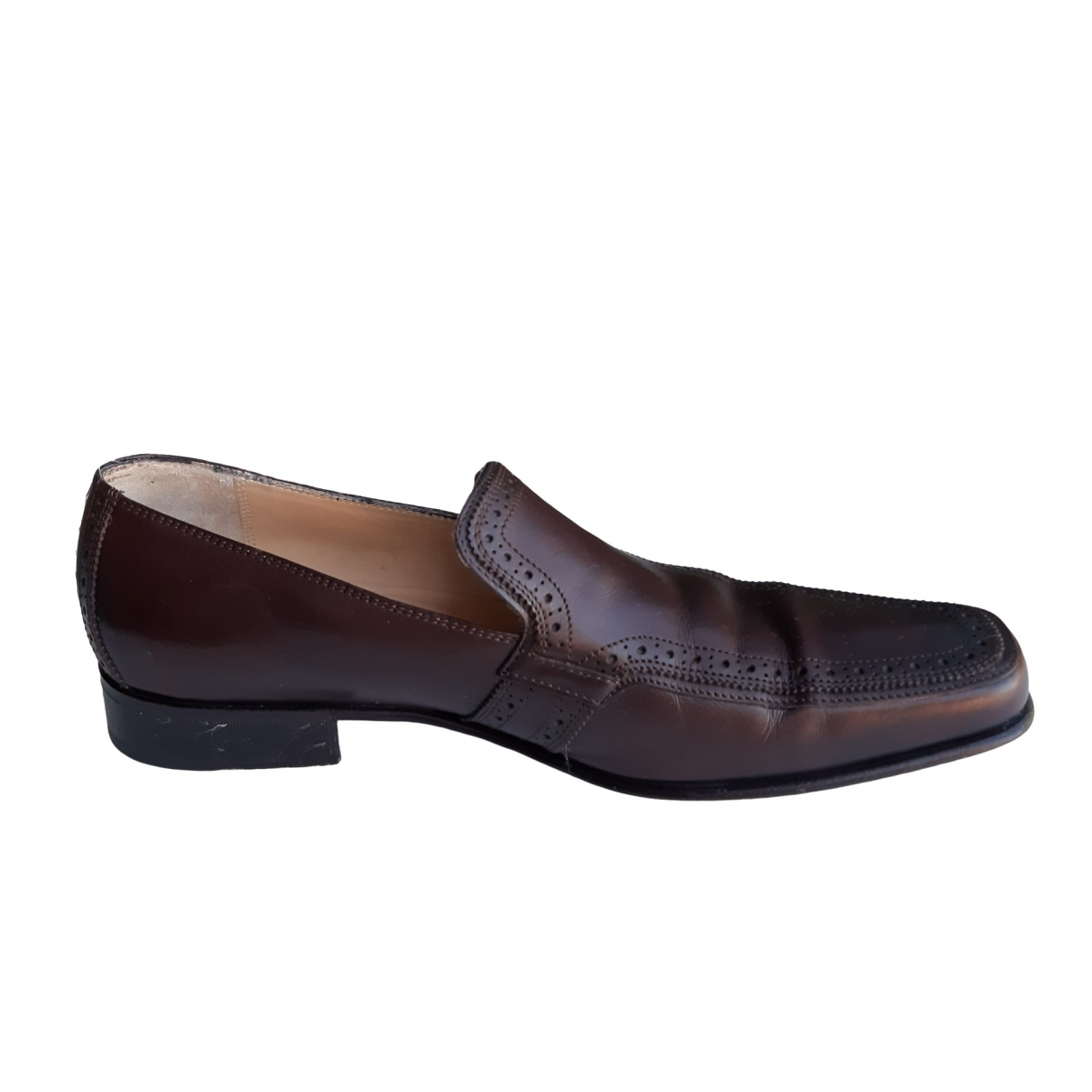 Salvatore Ferragamo \N Brown Leather Flats for Men 43.5 EU