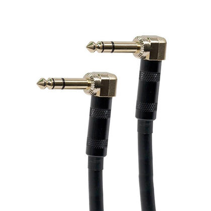 Premier Series 1/4inch(TRS or Stereo Phono)Male Right Angle to Male Right Angle 16AWG Cable-7 lengths available-Monoprice - 1.5Ft