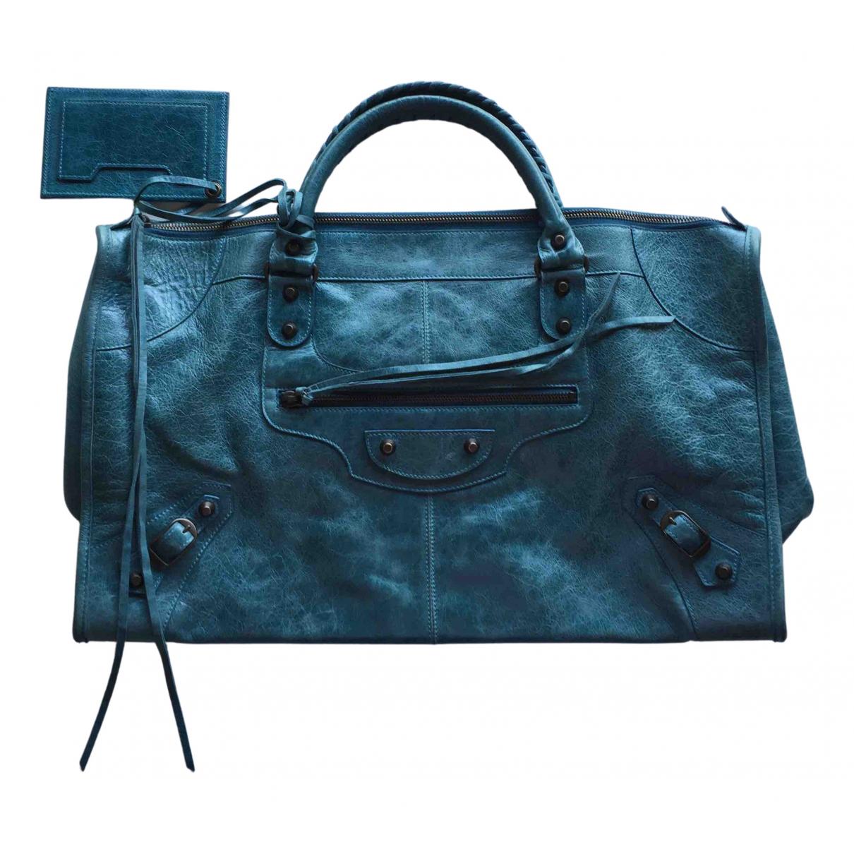 Balenciaga - Sac a main Work pour femme en cuir - vert