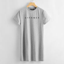Letter Graphic Tee Dress