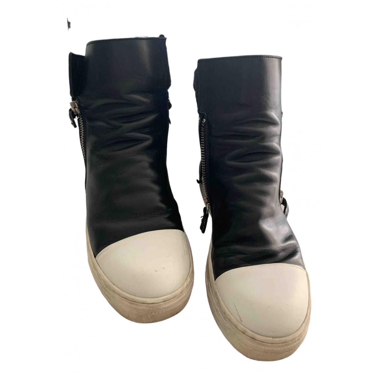Cinzia Araia - Baskets   pour enfant en cuir - noir