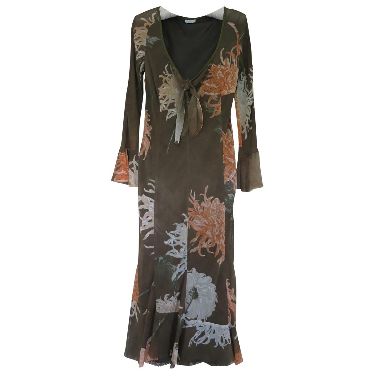 Paul Smith - Robe   pour femme en soie - marron