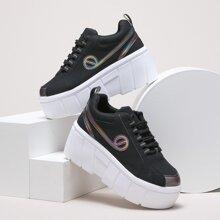 Sneakers mit Band vorn und Platform