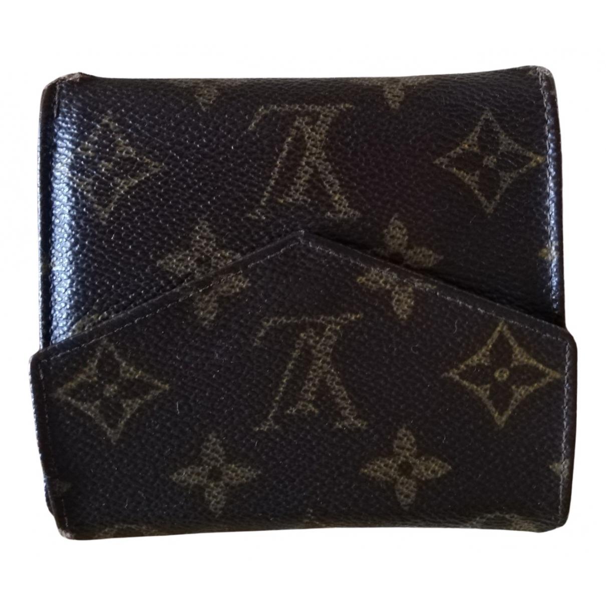 Louis Vuitton - Portefeuille Victorine pour femme en toile - marron
