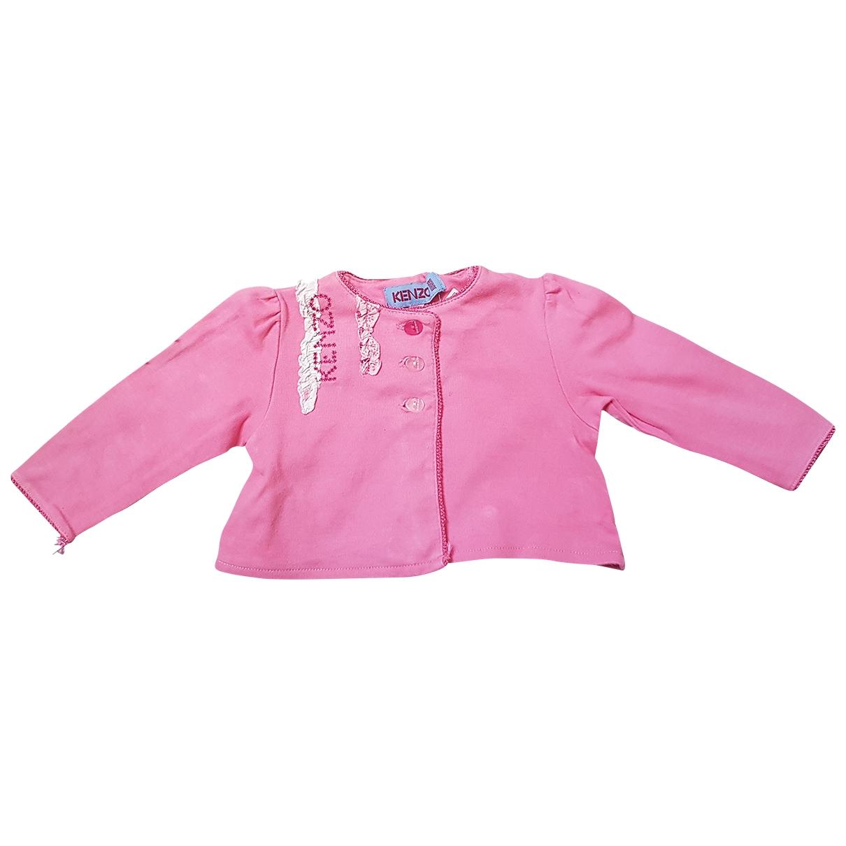 Kenzo - Pull   pour enfant en coton - rose