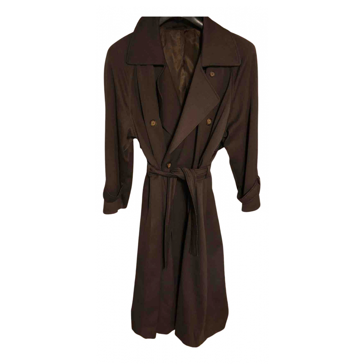 Non Signé / Unsigned \N Wool Trench coat for Women 44 IT