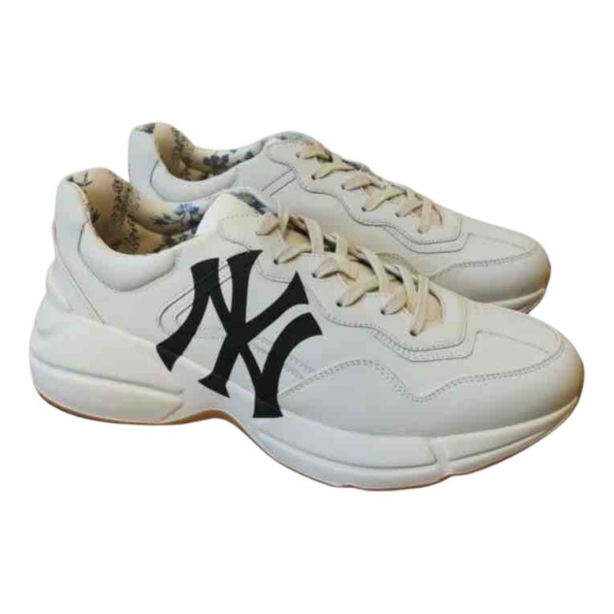 Gucci - Baskets Rhyton pour homme en cuir - blanc