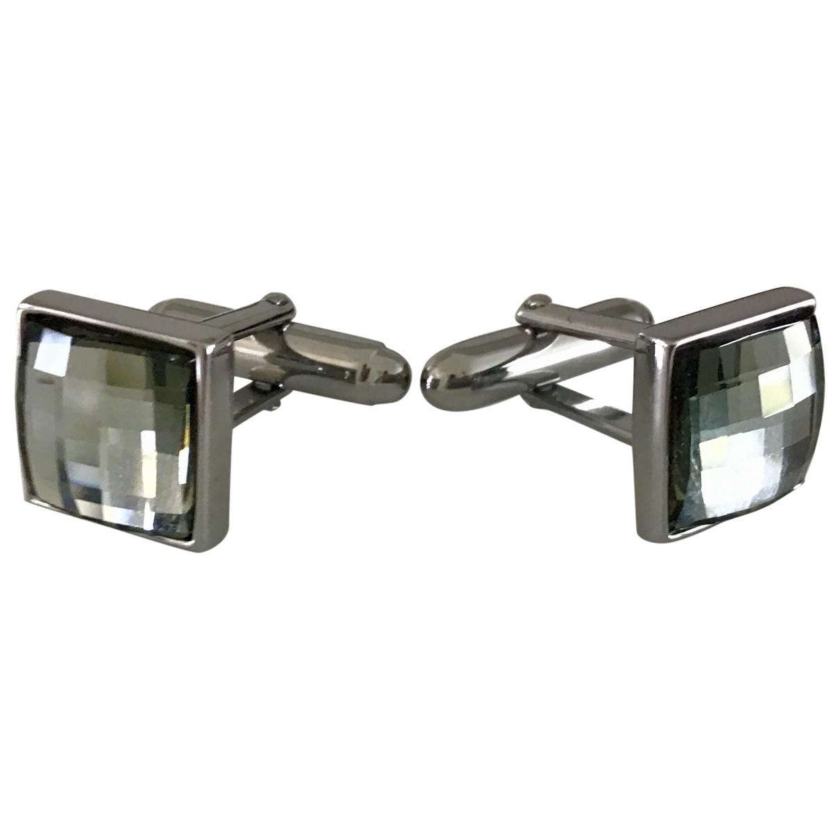 Swarovski \N Anthracite Steel Cufflinks for Men \N
