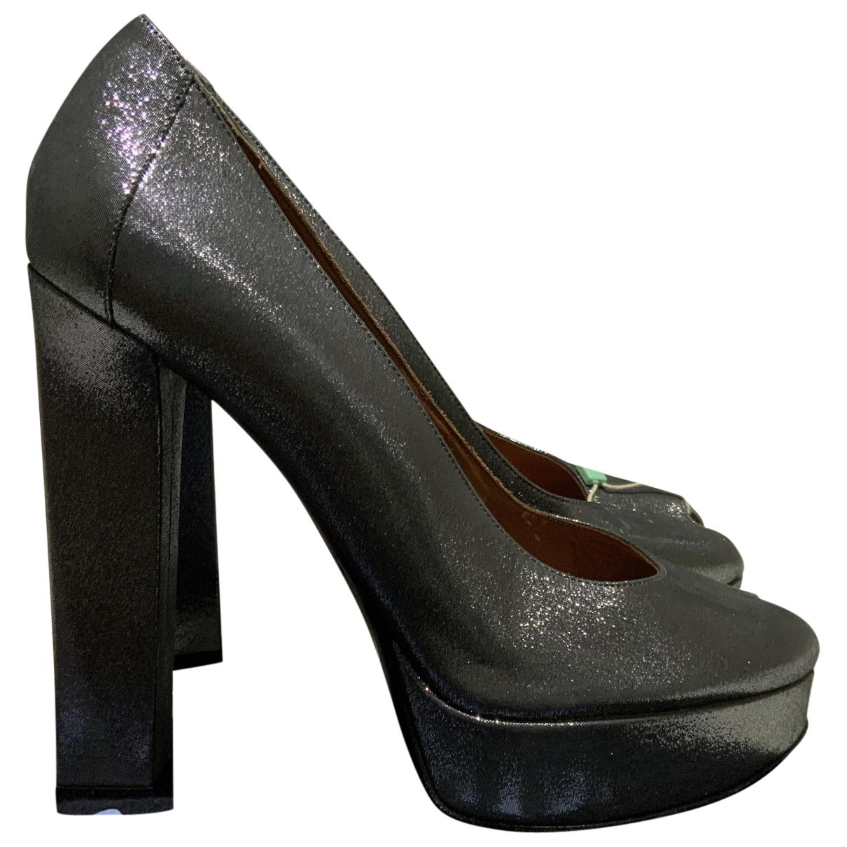 Lanvin N Grey Cloth Heels for Women 39.5 EU