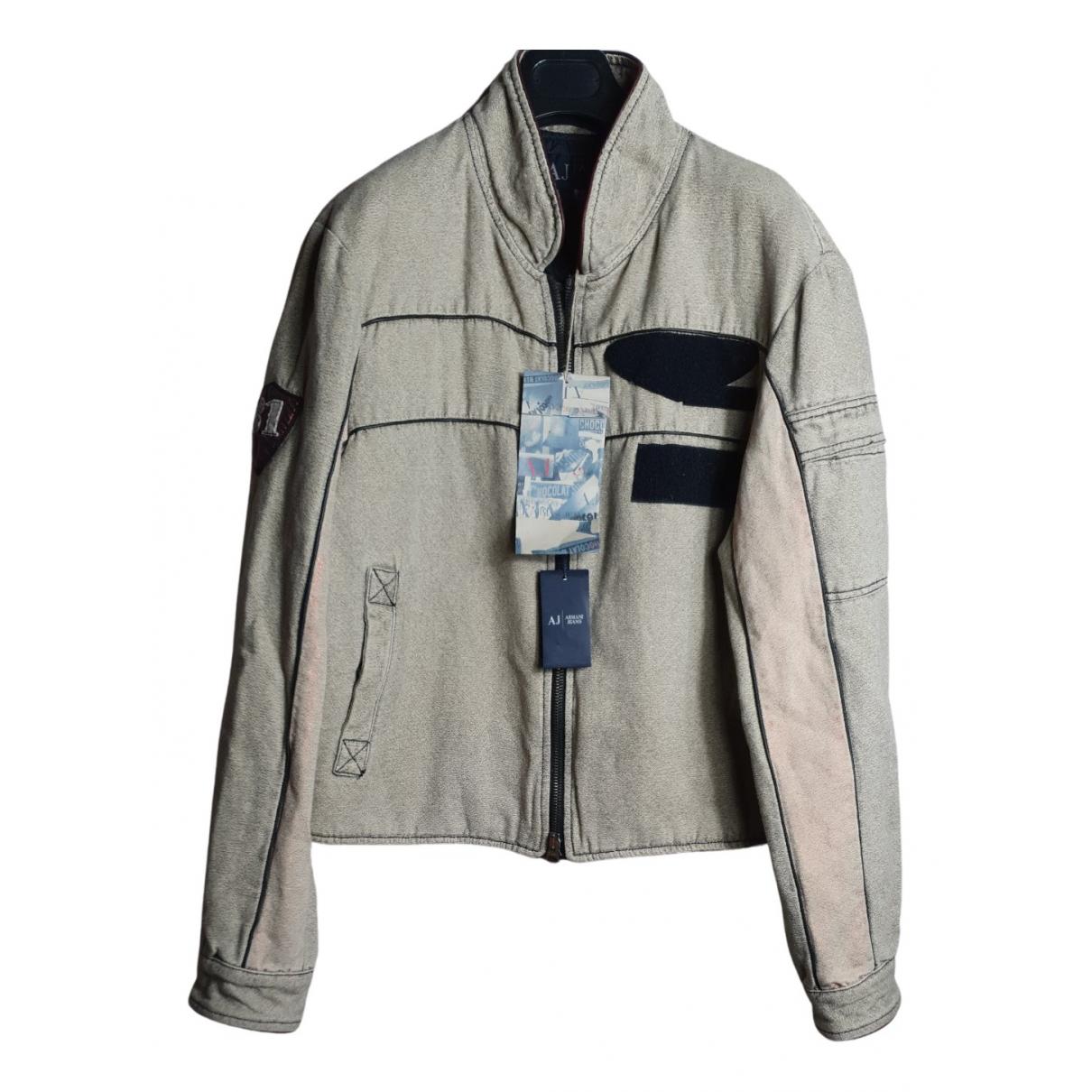 Armani Jeans \N Jacke in  Beige Baumwolle