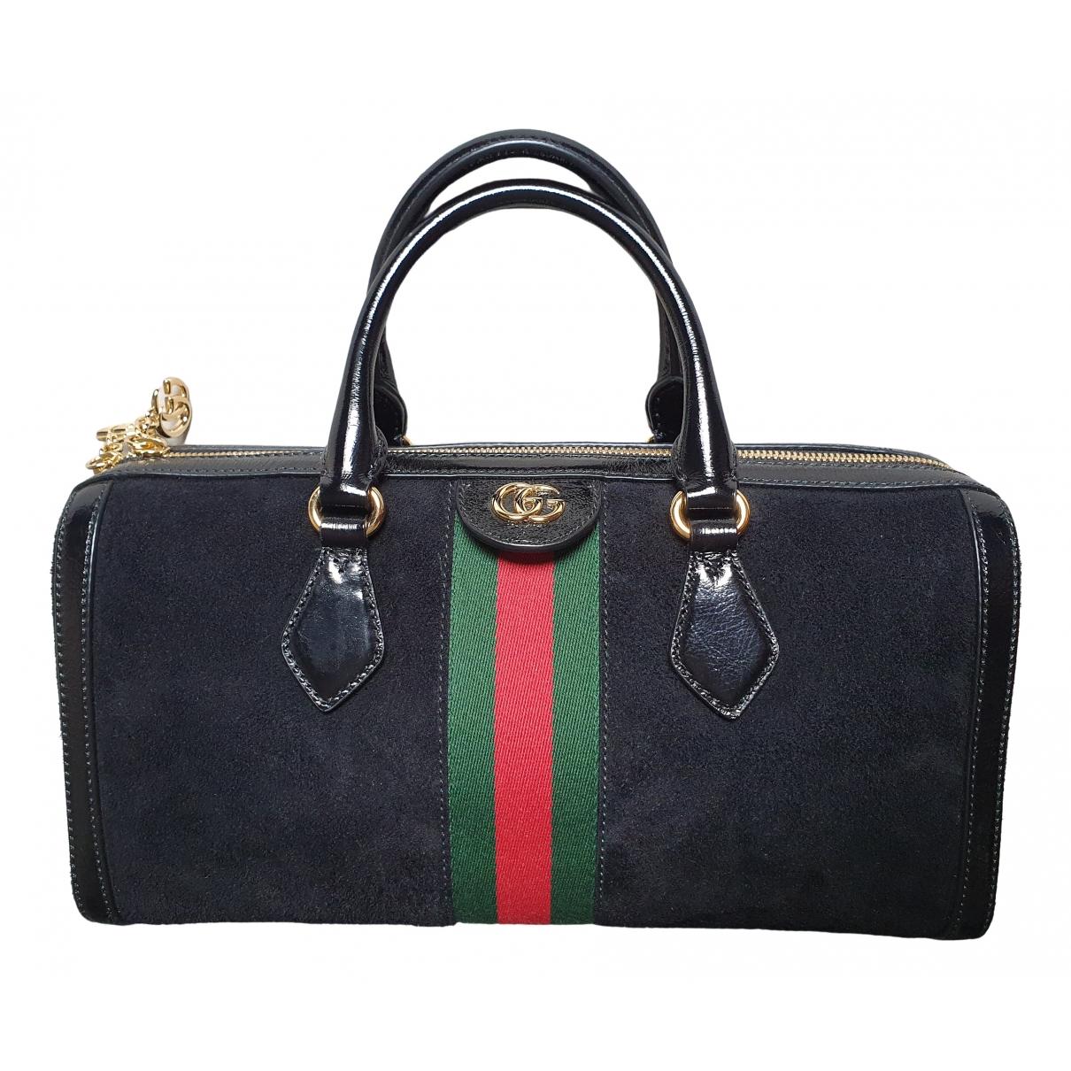 Gucci Ophidia Handtasche in  Schwarz Veloursleder