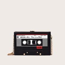 Music Tape Chain Box Bag