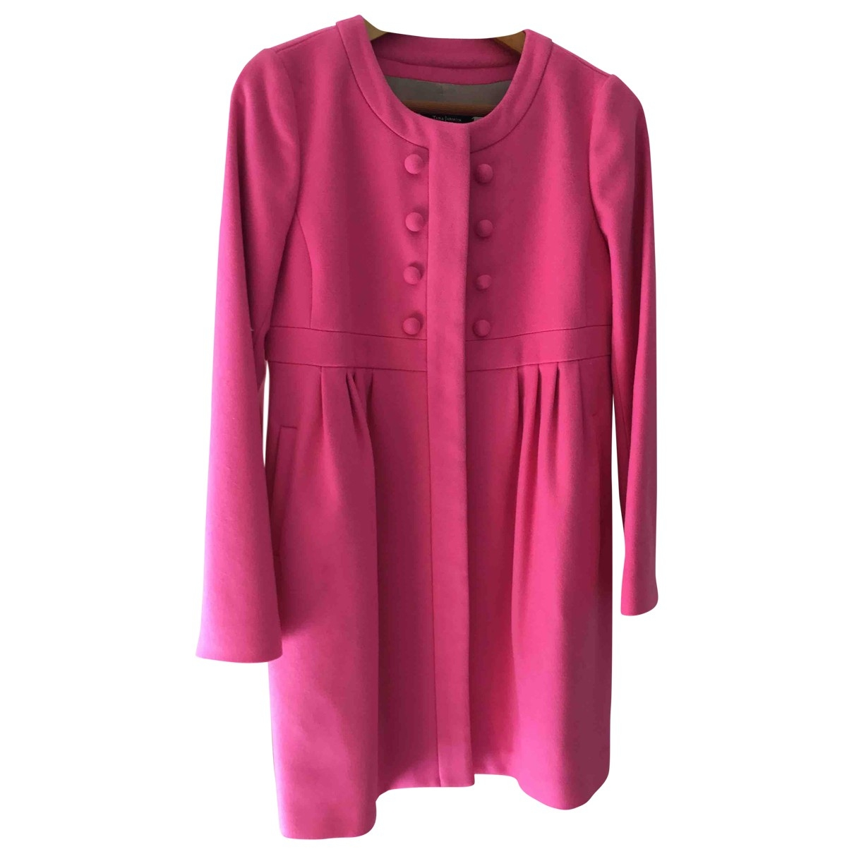 Tara Jarmon - Manteau   pour femme en laine - rose