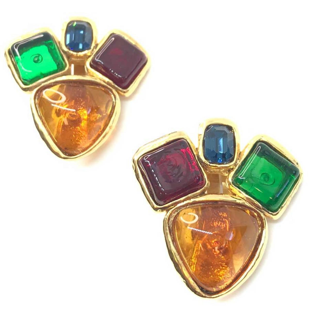 Chanel - Boucles doreilles   pour femme en verre - multicolore