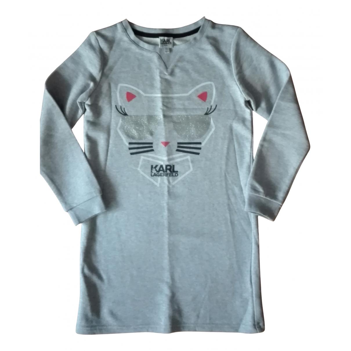 Karl Lagerfeld - Robe    pour enfant en coton - gris