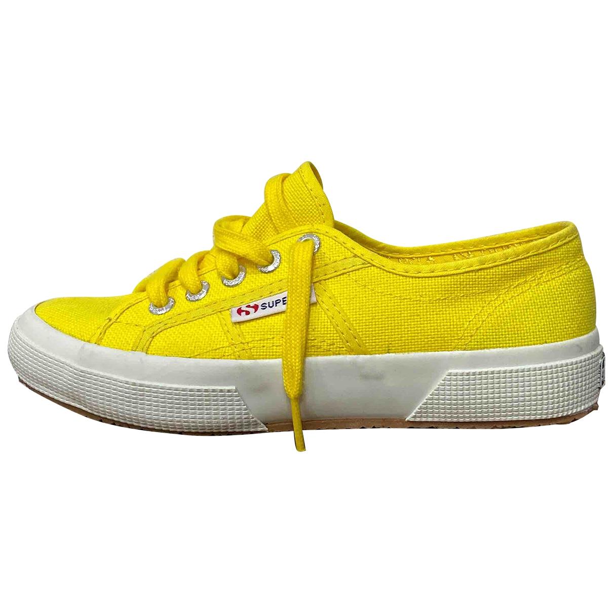 Superga \N Yellow Cloth Trainers for Women 36 EU