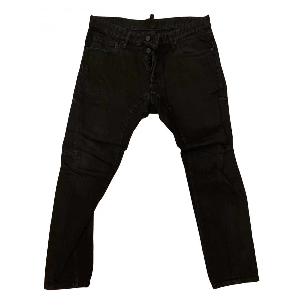 Dsquared2 \N Black Cotton Jeans for Men 46 FR