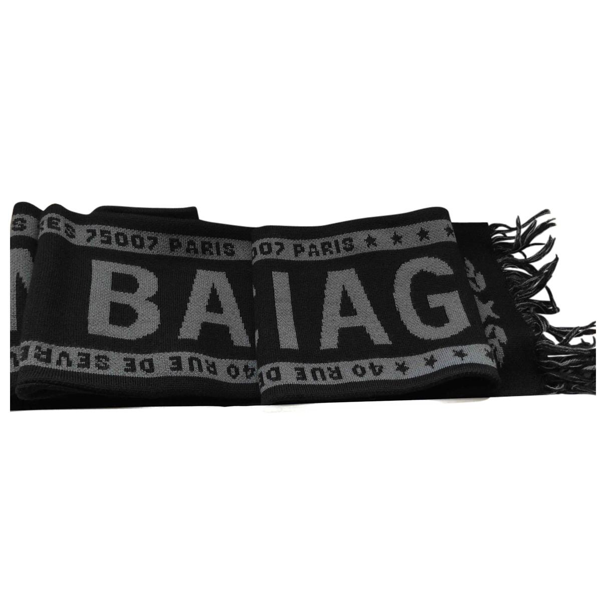 Balenciaga - Cheches.Echarpes   pour homme en laine - noir