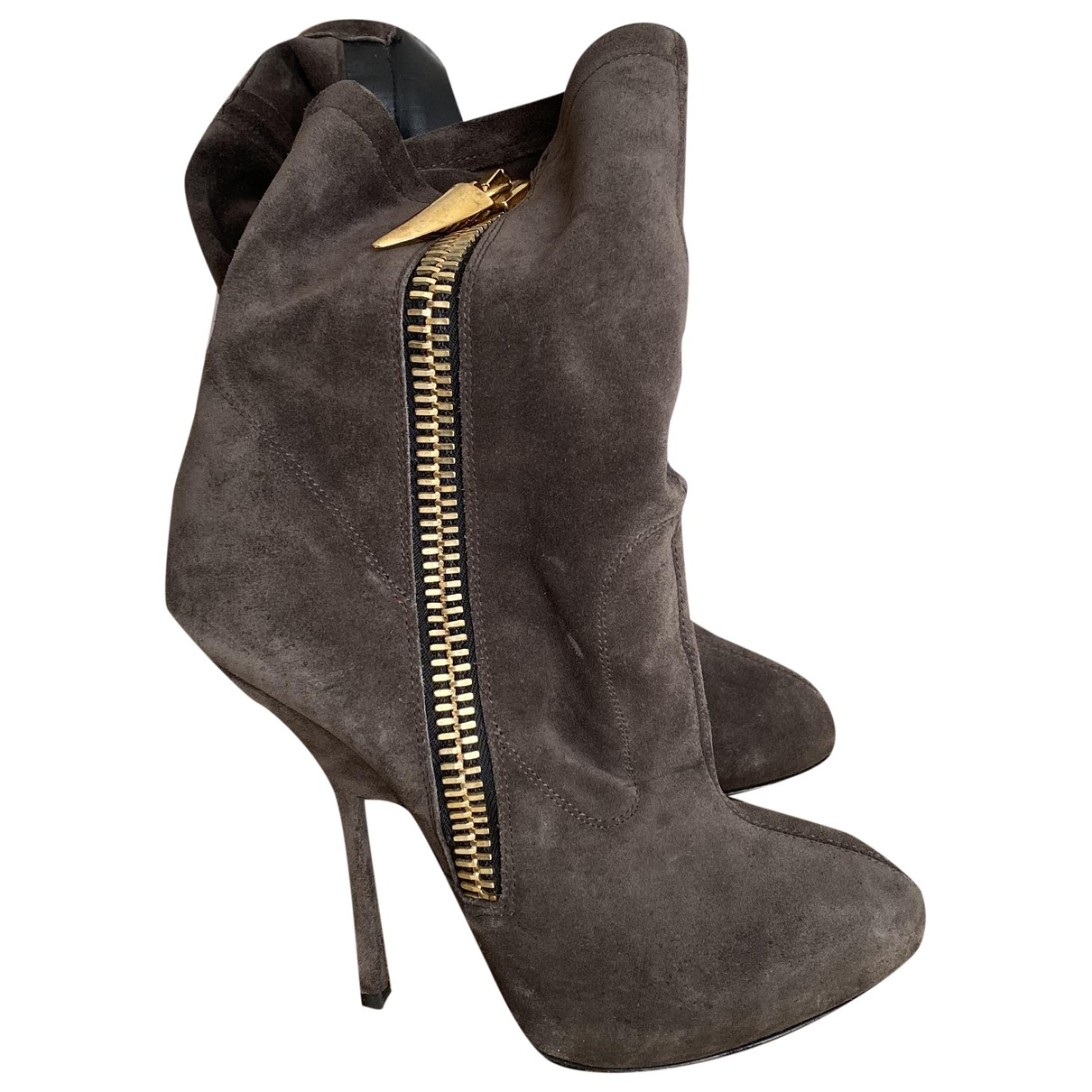 Giuseppe Zanotti - Boots   pour femme en suede - gris