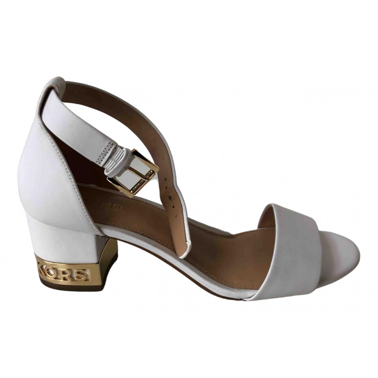 Michael Kors N White Leather Sandals for Women 6 US