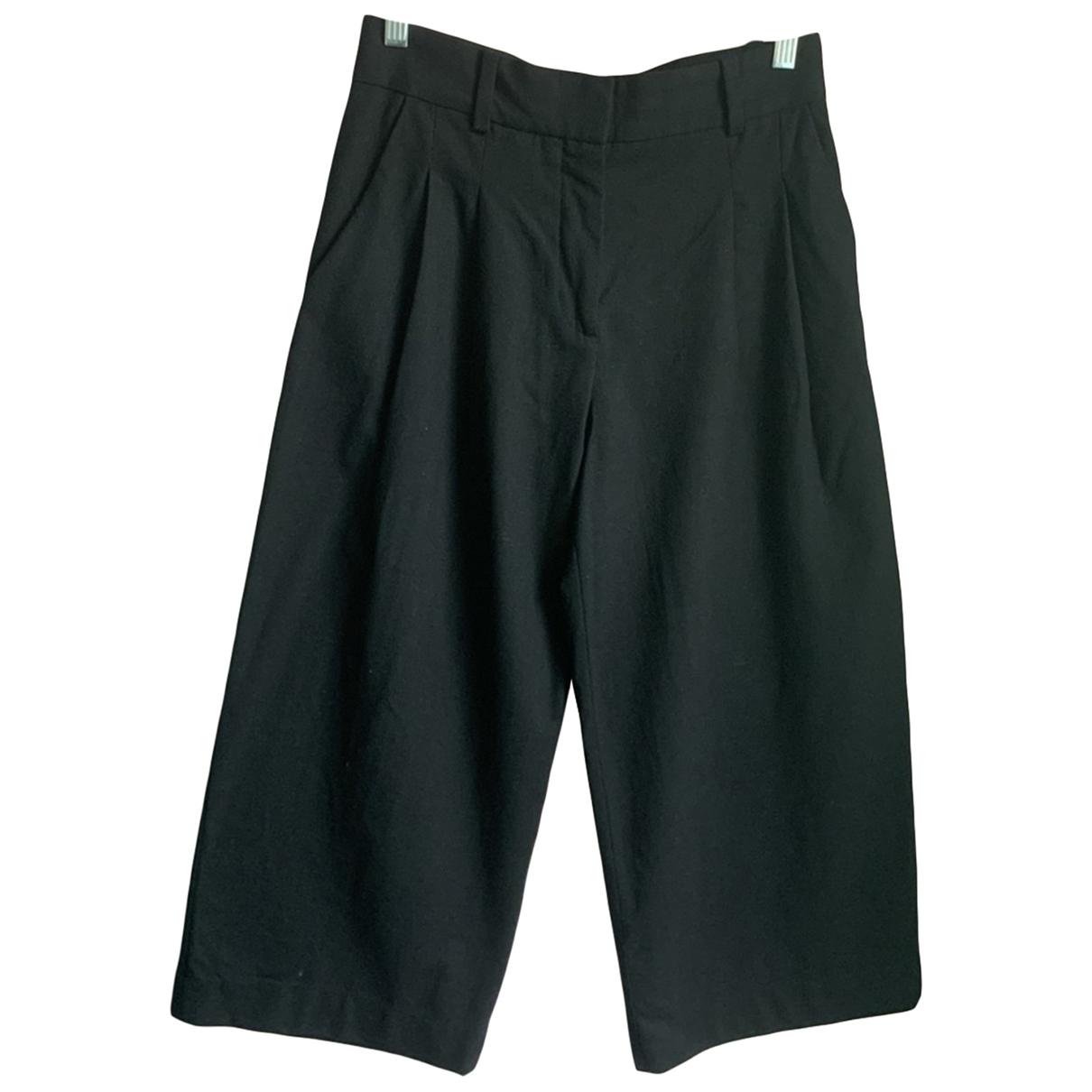 Cos \N Black Wool Trousers for Women 34 FR