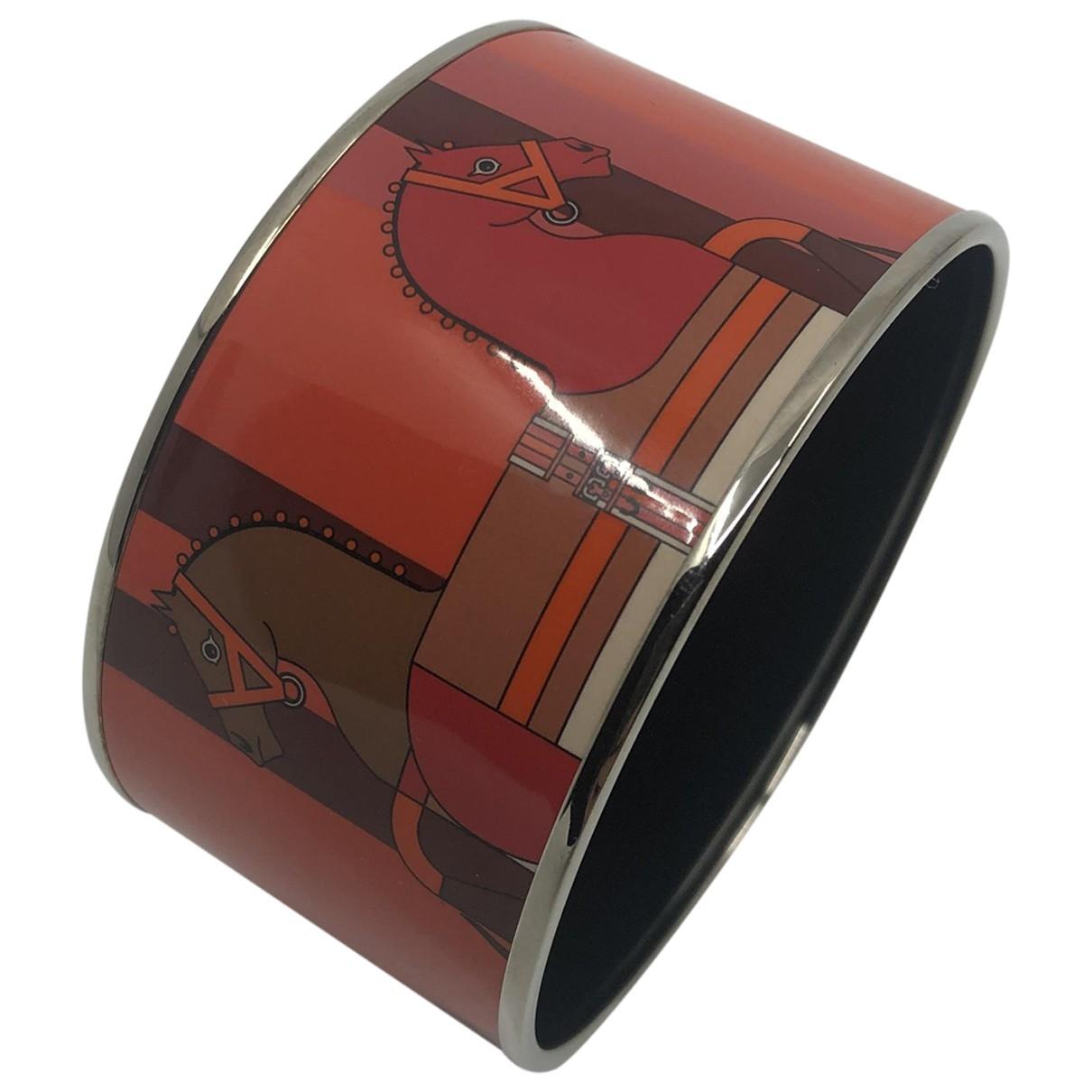 Hermes - Bracelet   pour femme en cuir verni - orange