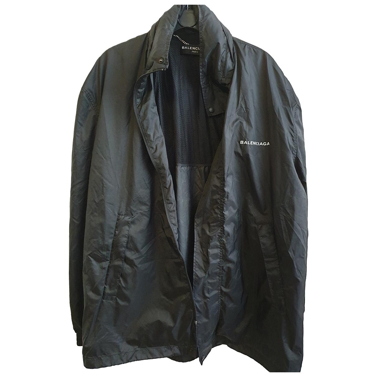 Balenciaga \N Black Polyamide jacket  for Men M International