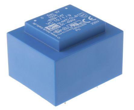 Block 9V ac 1 Output Through Hole PCB Transformer, 10VA
