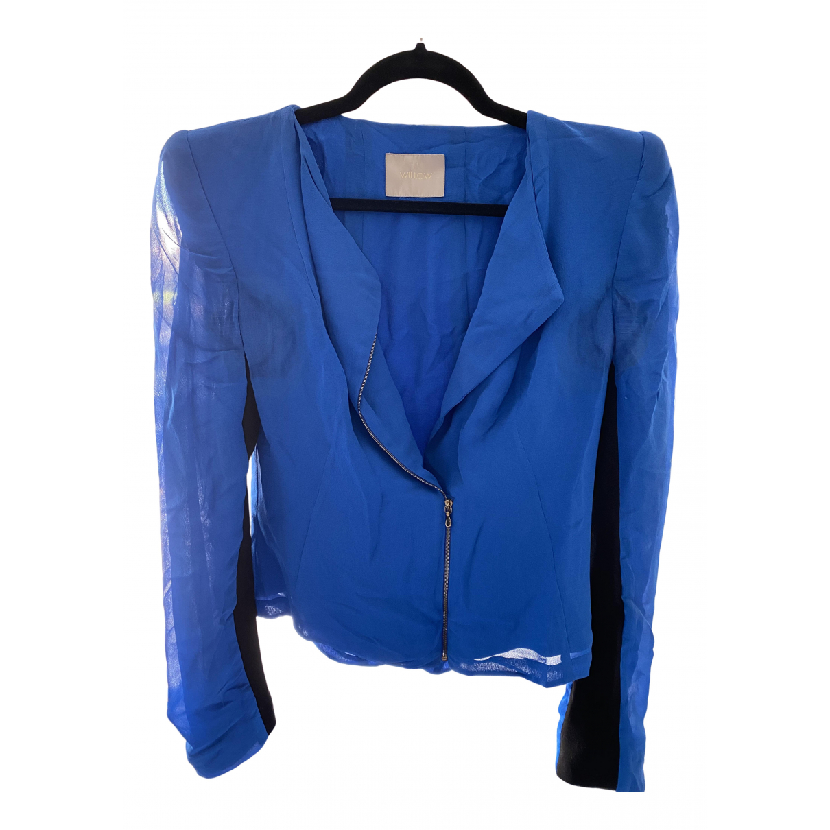 Willow - Veste   pour femme en soie - bleu