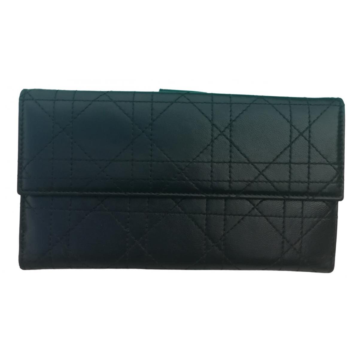 Dior \N Kleinlederwaren in  Schwarz Leder