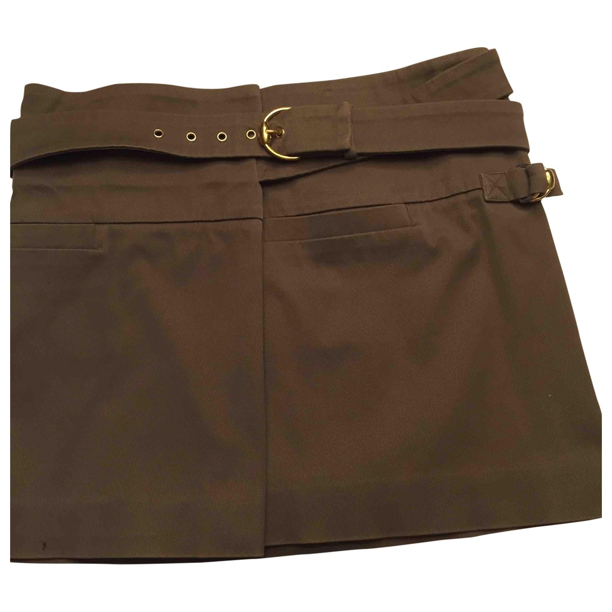 Gucci \N Khaki Cotton skirt for Women 42 FR