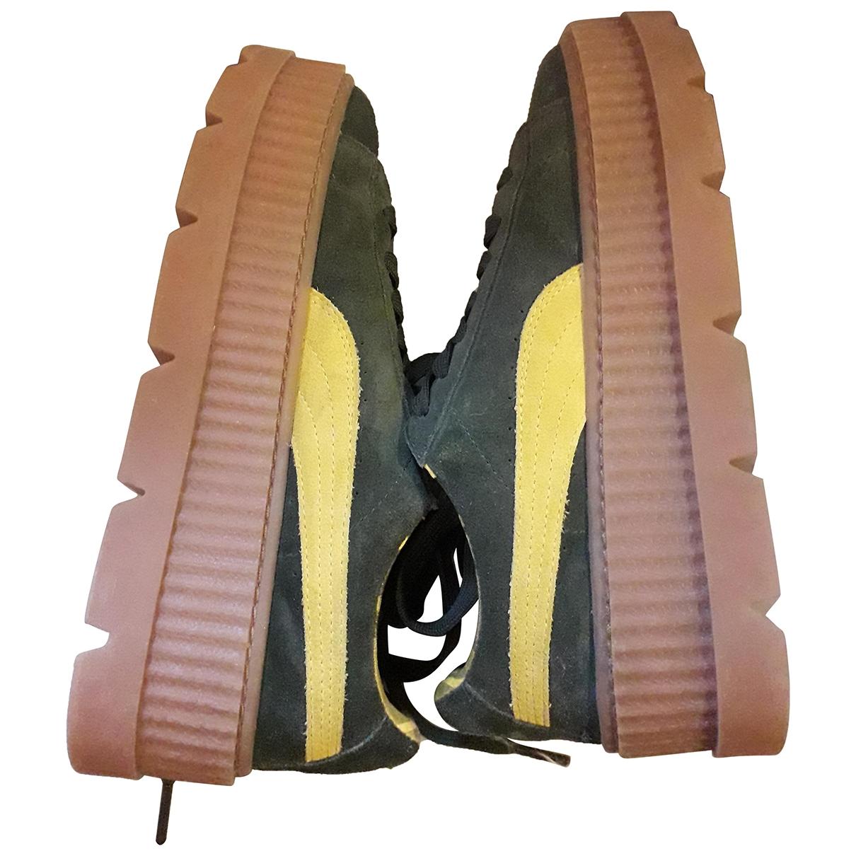 Fenty X Puma - Baskets   pour femme en suede - kaki