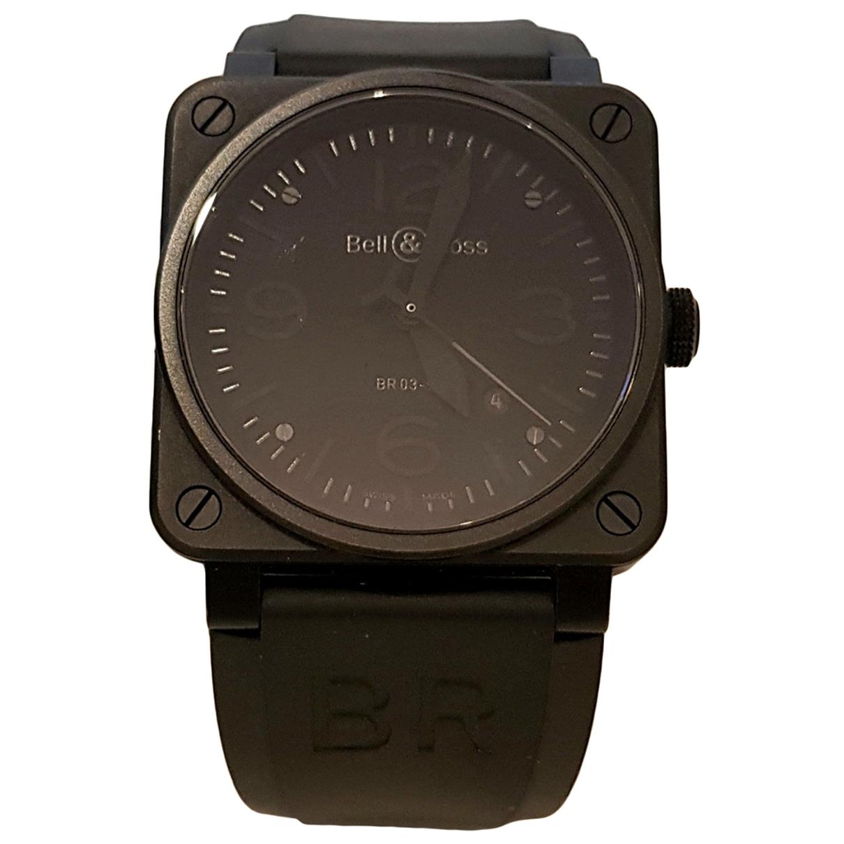 Bell & Ross BR03-92 Phantom Uhr in  Schwarz Stahl
