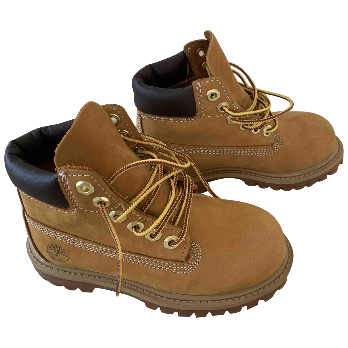 Timberland \N Yellow Leather Boots for Kids 27 EU