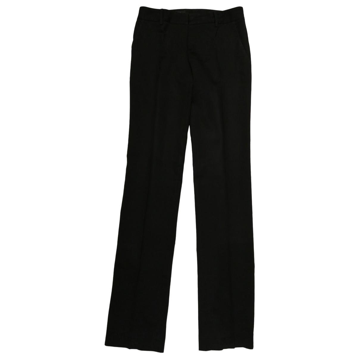 Gucci \N Black Wool Trousers for Women 42 IT