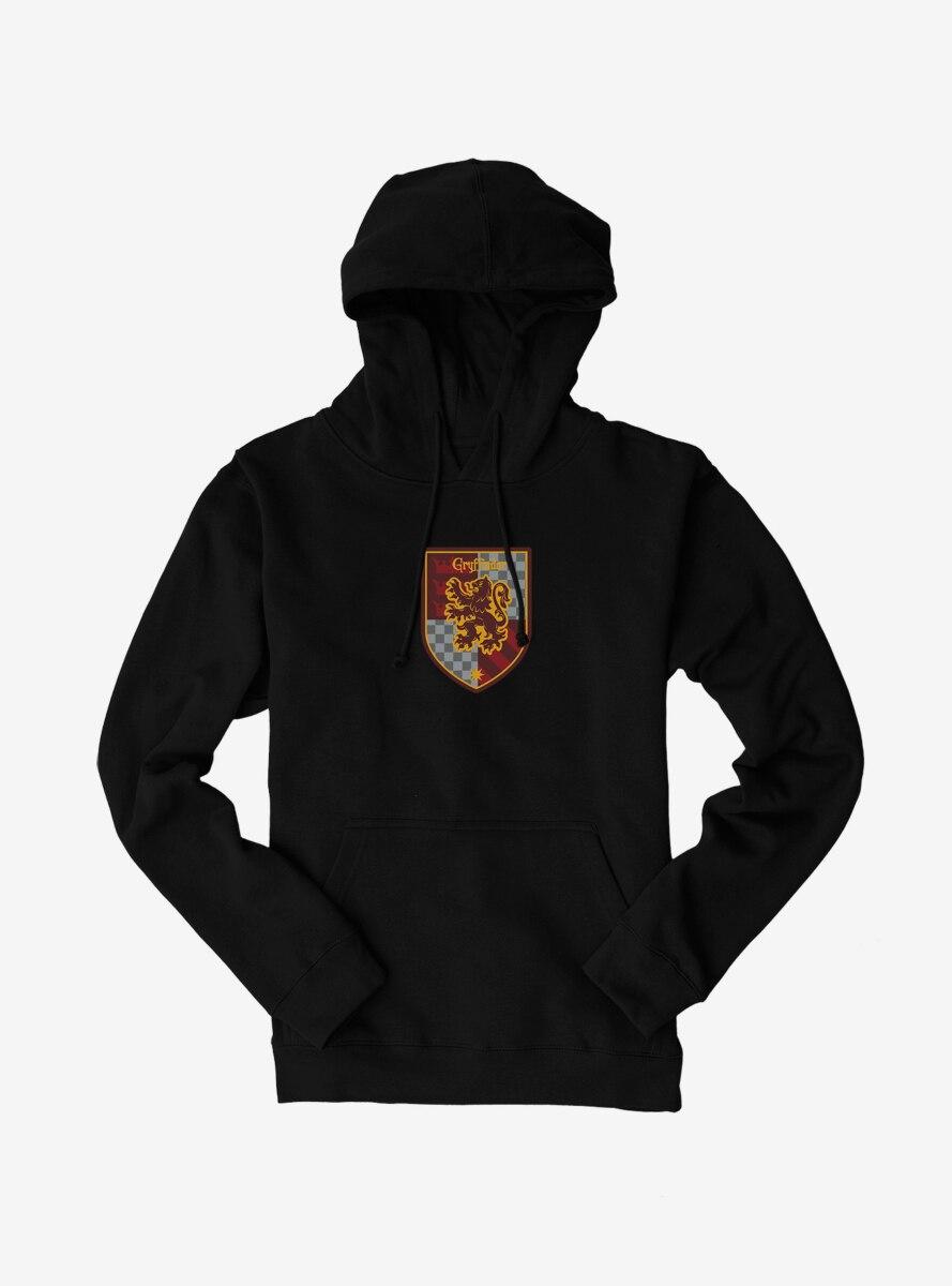 Harry Potter Gryffindor Checkered Shield Hoodie