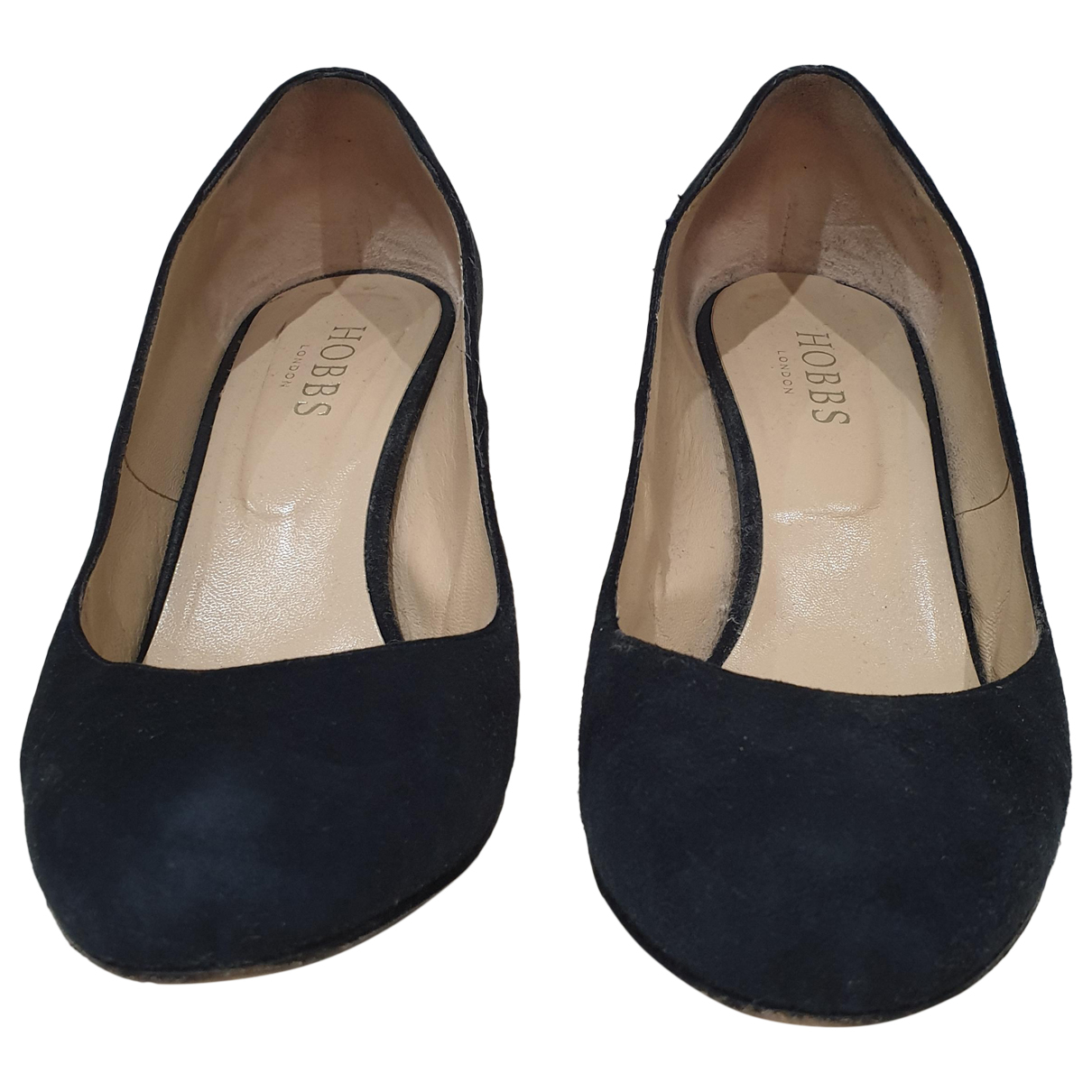 Hobbs N Blue Suede Heels for Women 38.5 EU