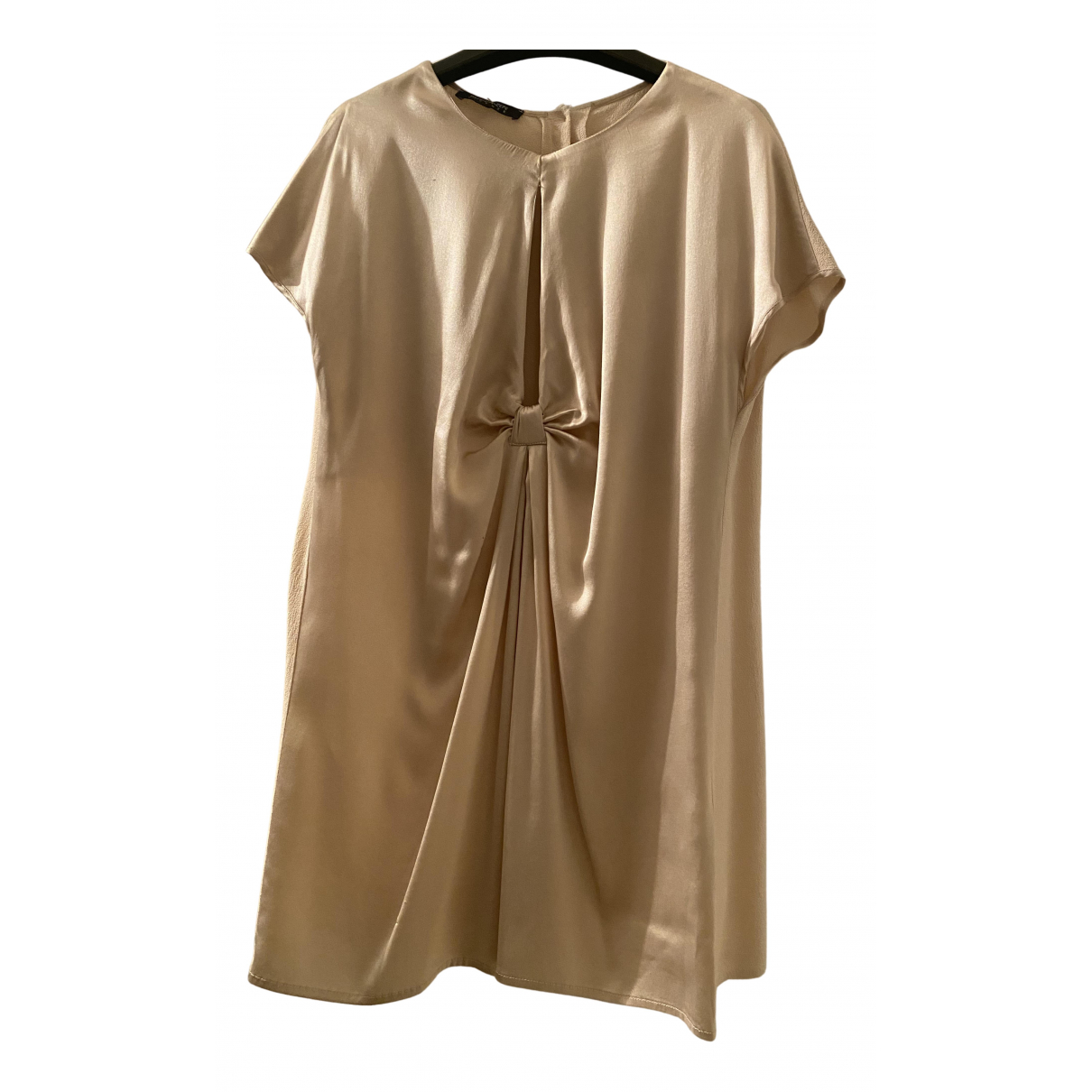 Patrizia Pepe N Gold Silk  top for Women 44 IT