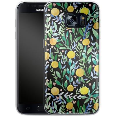 Samsung Galaxy S7 Silikon Handyhuelle - Bright Blossoms von Iisa Monttinen