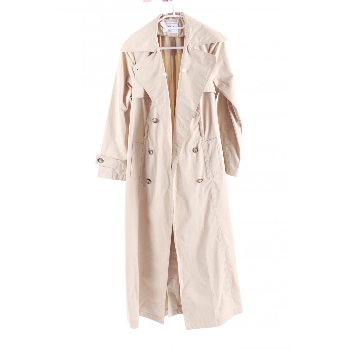 Forte Couture - Manteau   pour femme en coton - beige