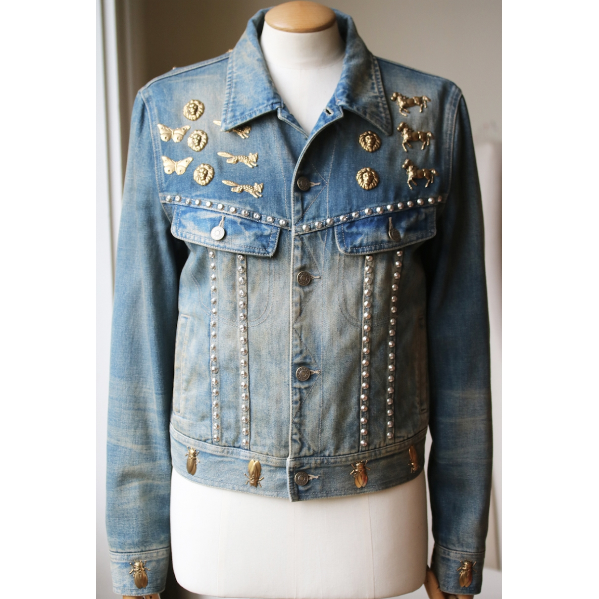 Gucci \N Blue Denim - Jeans jacket for Women 42 IT